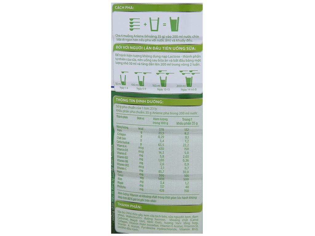Sữa bột Anlene Movepro vani lon 800g (19 - 45 tuổi) 9