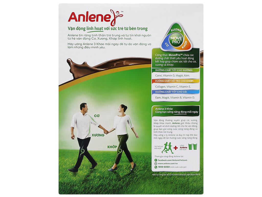 Sữa bột Anlene Gold Movepro socola hộp 440g (trên 51 tuổi) 4