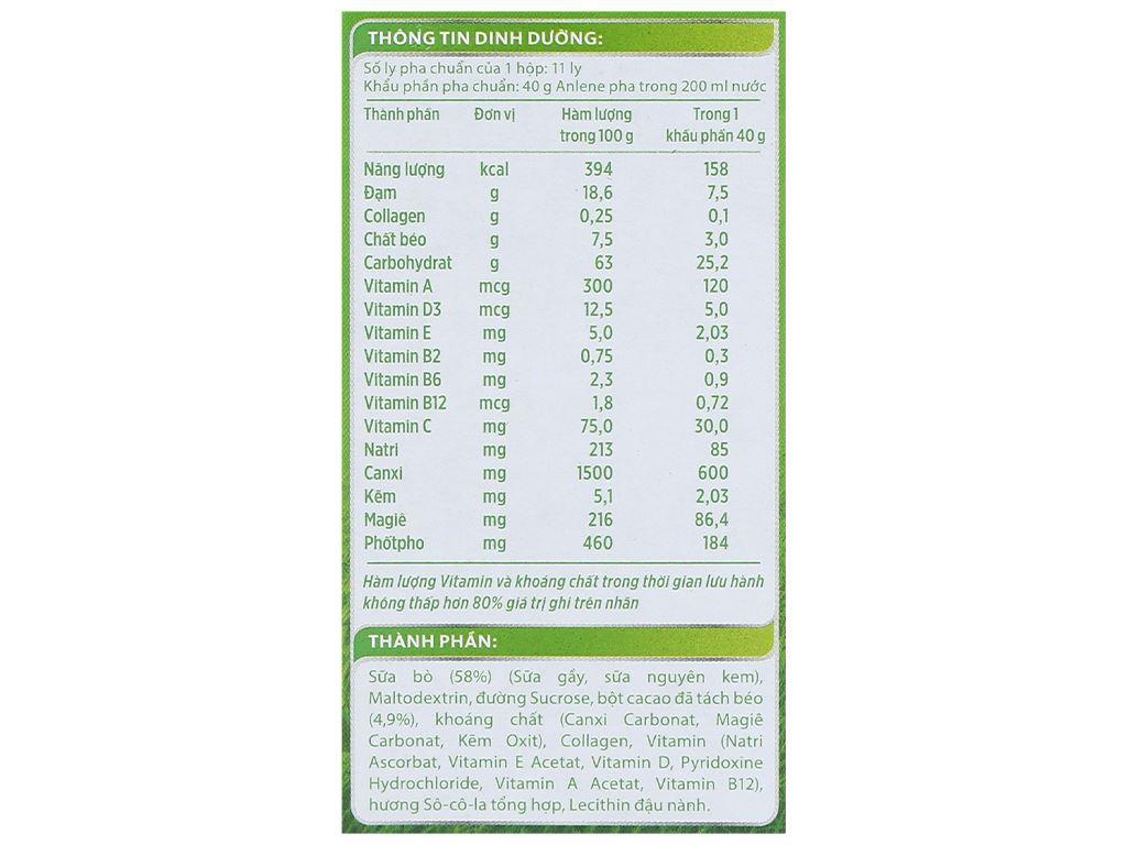 Sữa bột Anlene Gold Movepro socola hộp 440g (trên 51 tuổi) 8