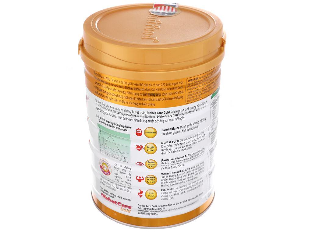 Sữa bột NutiFood Diabet Care Gold lon 900g (cho người bệnh tiểu đường) 3
