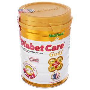 Sữa bột NutiFood Diabet Care Gold lon 900g (cho người bệnh tiểu đường)