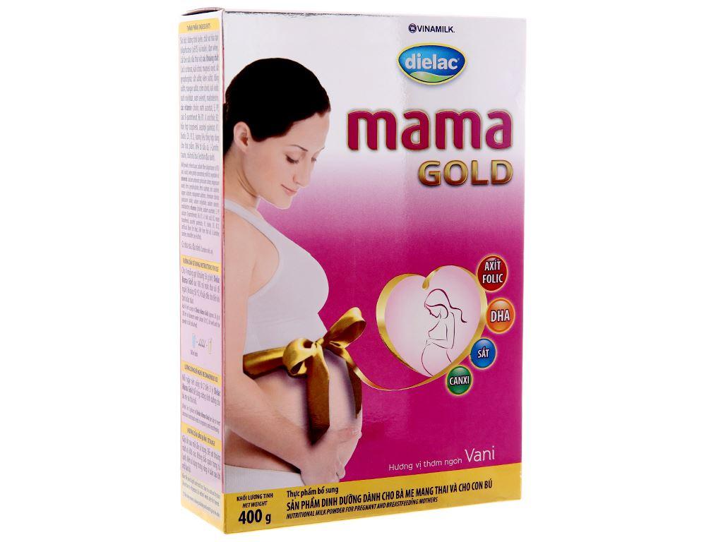 Sữa bột Dielac Mama Gold vani hộp 400g 2