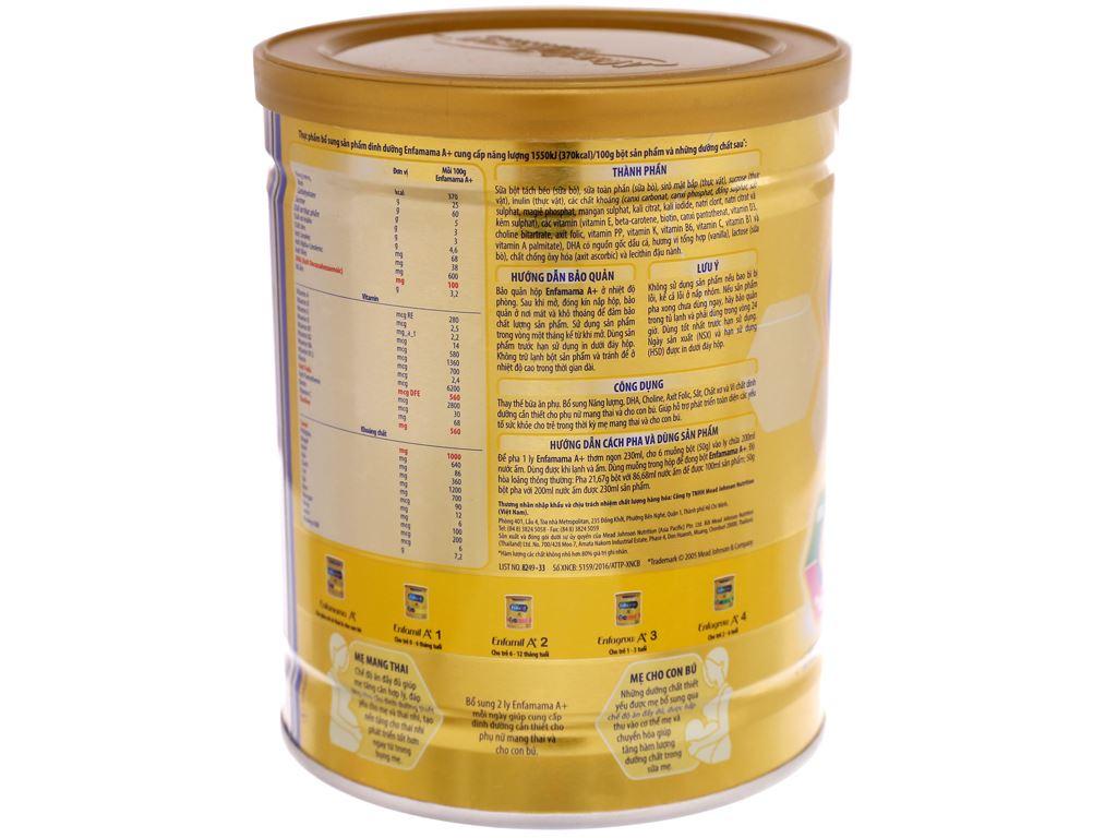 Sữa bột Enfamama A+ vani lon 400g 4