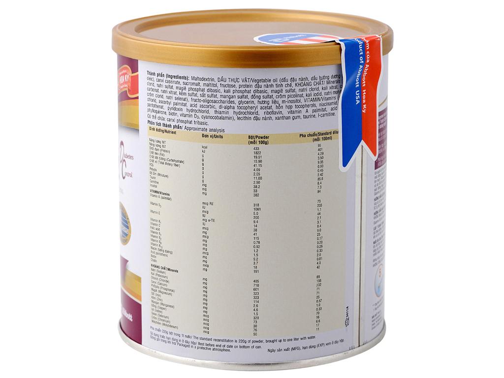 Sữa bột Abbott Glucerna vani lon 400g (cho người bệnh tiểu đường) 2