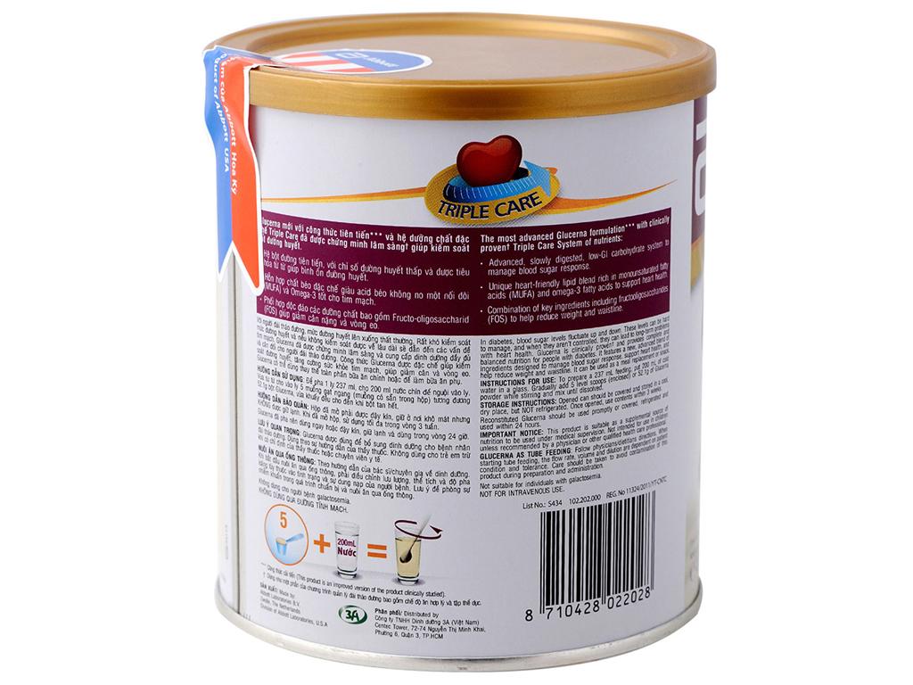 Sữa bột Abbott Glucerna vani lon 400g (cho người bệnh tiểu đường) 3
