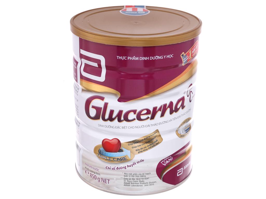 Sữa bột Abbott Glucerna vani lon 850g (cho người bệnh tiểu đường) 1