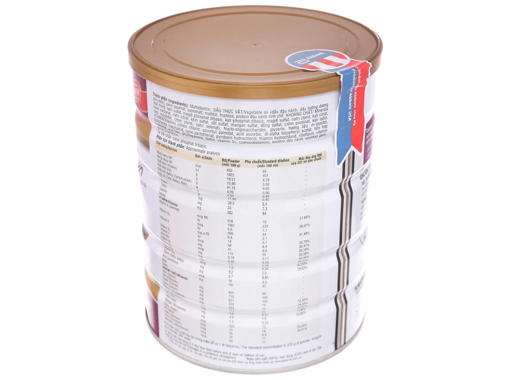 Sữa bột Abbott Glucerna vani lon 850g (cho người bệnh tiểu đường) 2
