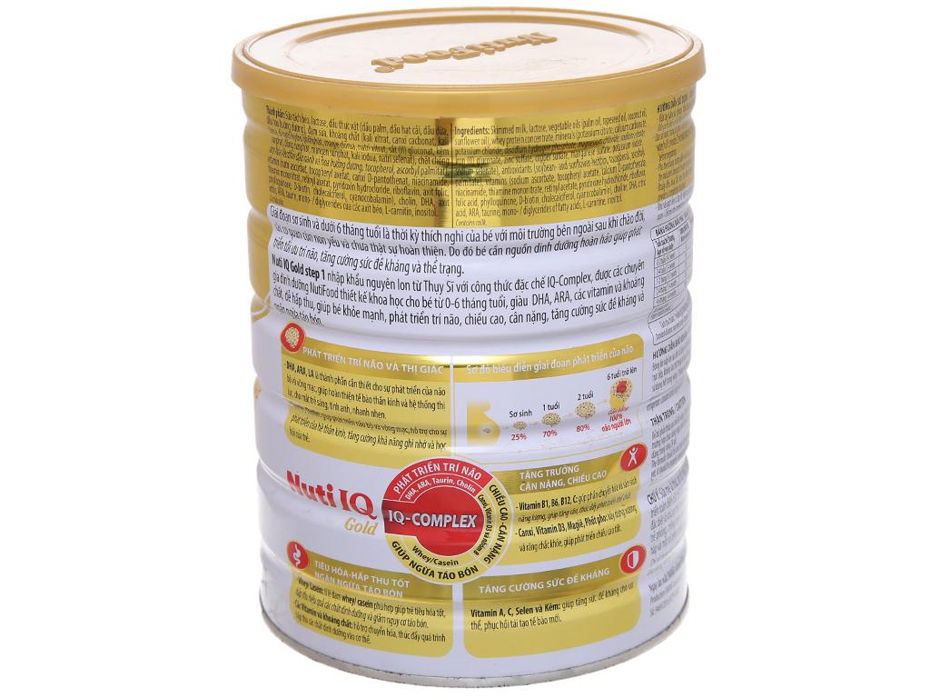 Sữa bột NutiFood Nuti IQ Gold 1 lon 900g (0 - 6 tháng) 3