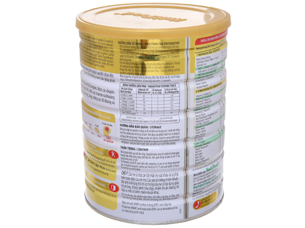 Sữa bột NutiFood Nuti IQ Gold 1 lon 900g (0 - 6 tháng) 4