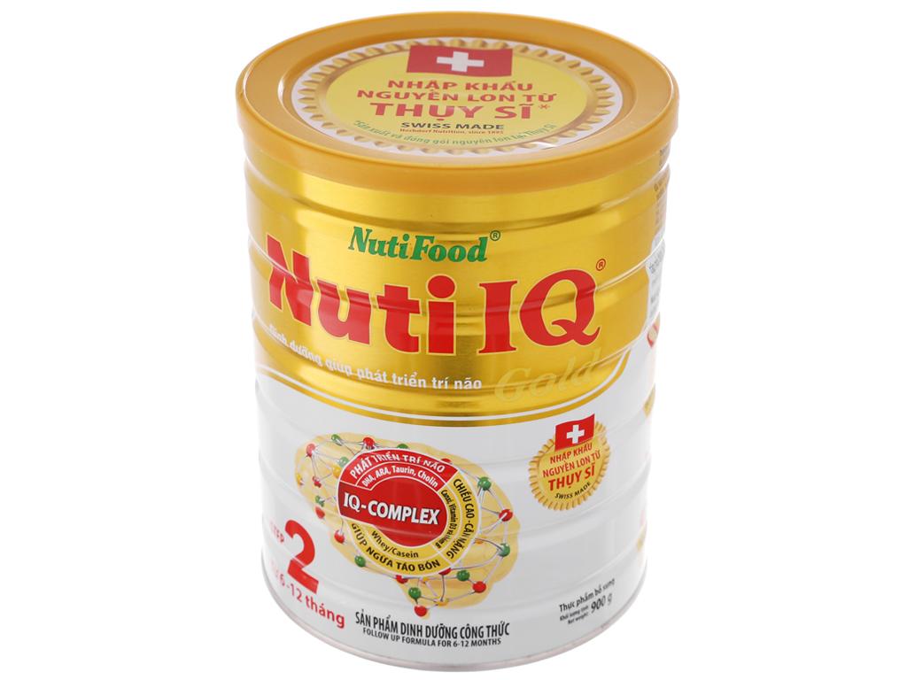 Sữa bột NutiFood Nuti IQ Gold 2 lon 900g (6 - 12 tháng) 2