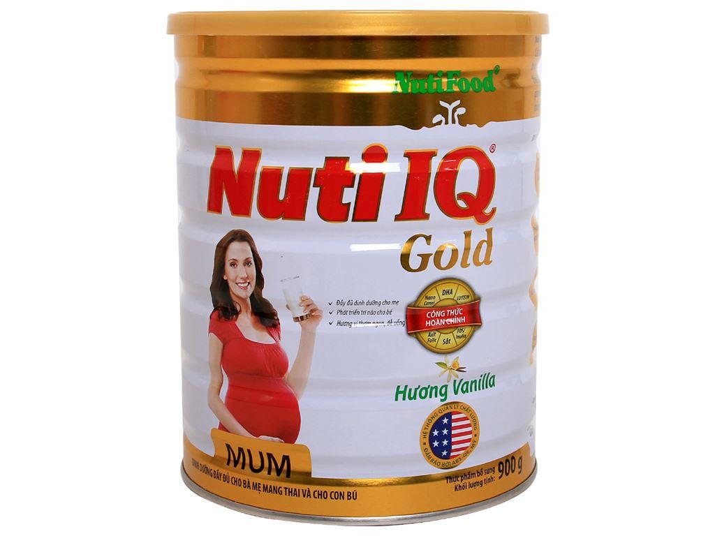 Sữa bột NutiFood Nuti IQ Mum Gold vani lon 900g 1