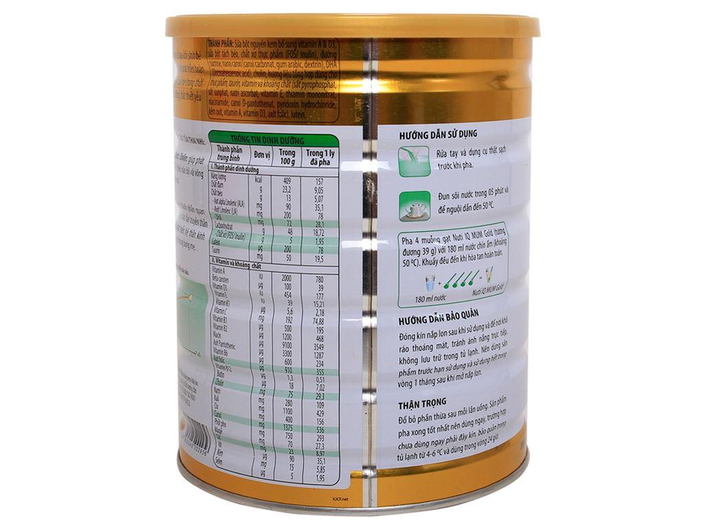 Sữa bột NutiFood Nuti IQ Mum Gold vani lon 900g 3