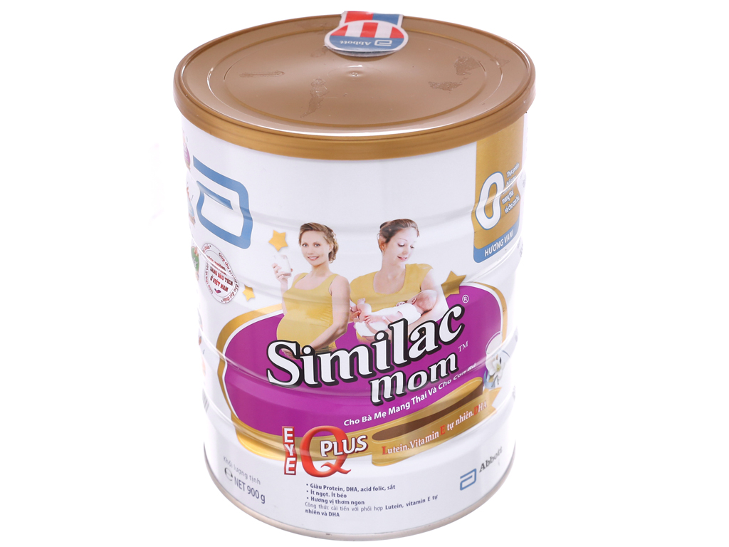 Sữa bột Abbott Similac Mom Eye-Q Plus vani lon 900g 2