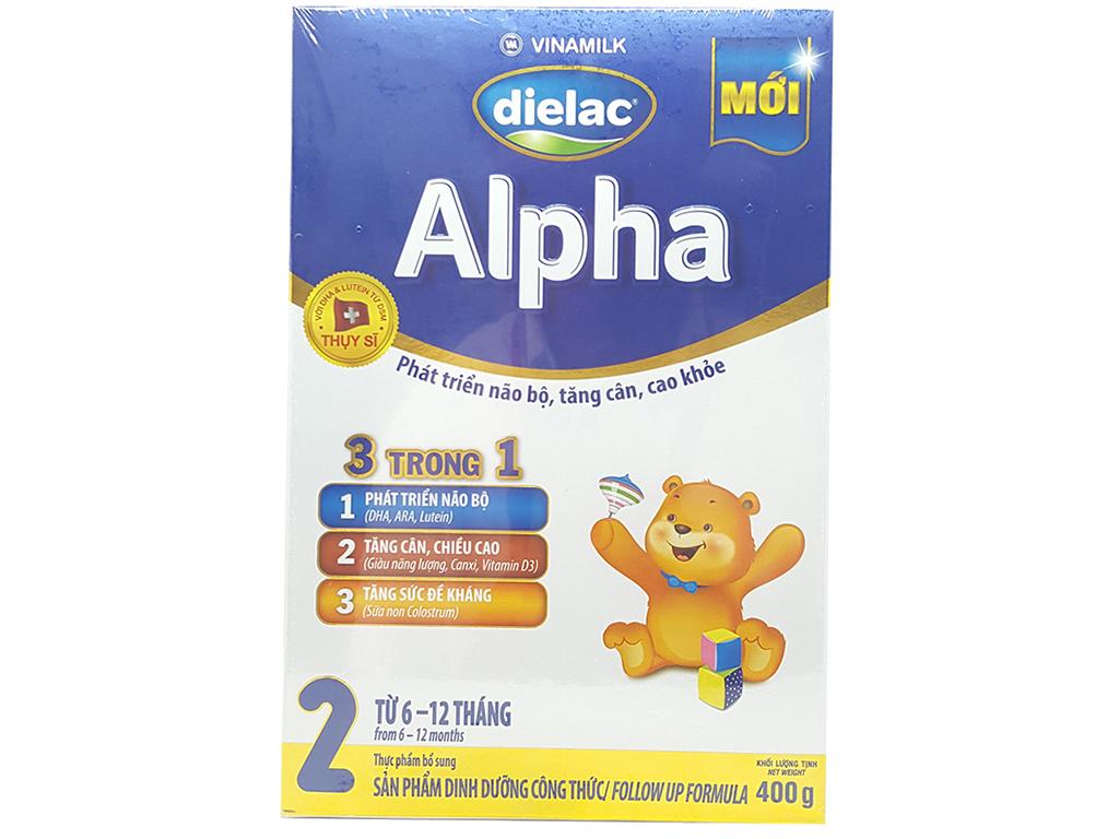 Sữa bột Dielac Alpha 2 hộp 400g (6 - 12 tháng) 1