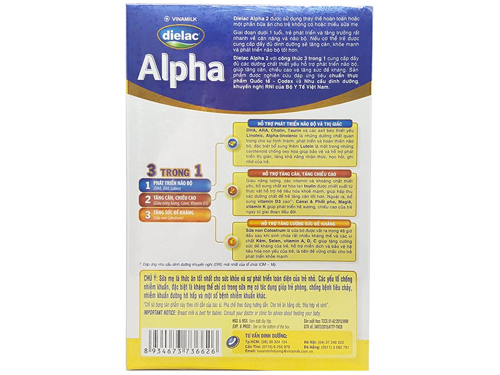 Sữa bột Dielac Alpha 2 hộp 400g (6 - 12 tháng) 3