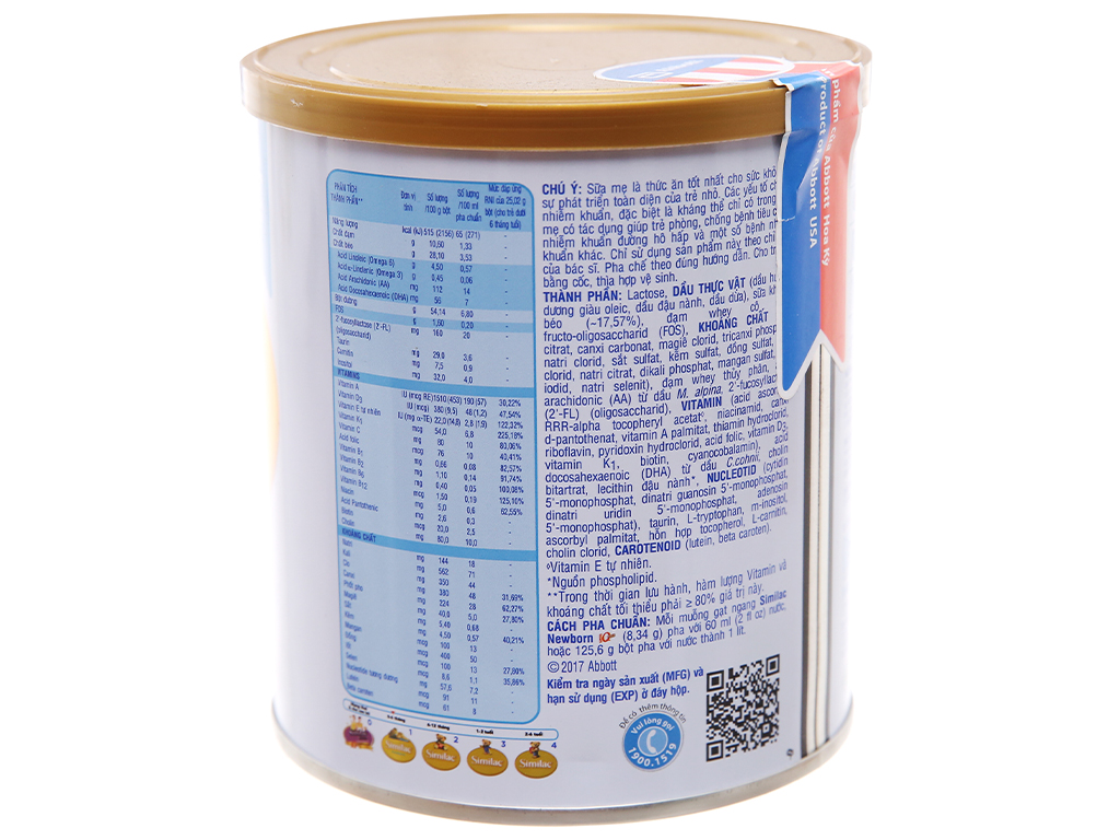 Sữa bột Abbott Similac Newborn Eye-Q Plus (HMO) lon 400g (0 - 6 tháng) 3