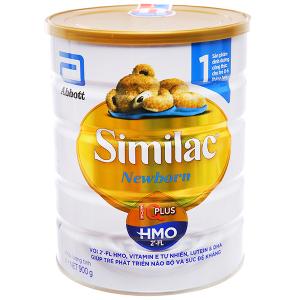 Sữa bột Abbott Similac Newborn Eye-Q Plus (HMO) lon 900g (0 - 6 tháng)
