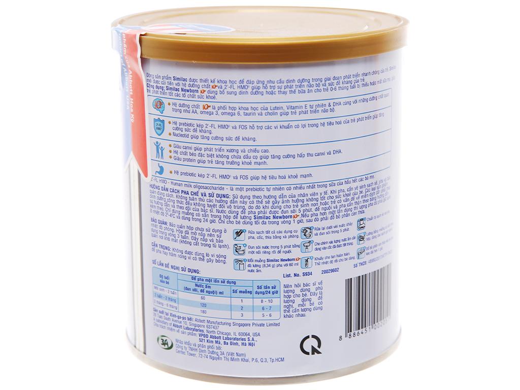 Sữa bột Abbott Similac Newborn Eye-Q Plus (HMO) lon 900g (0 - 6 tháng) 2