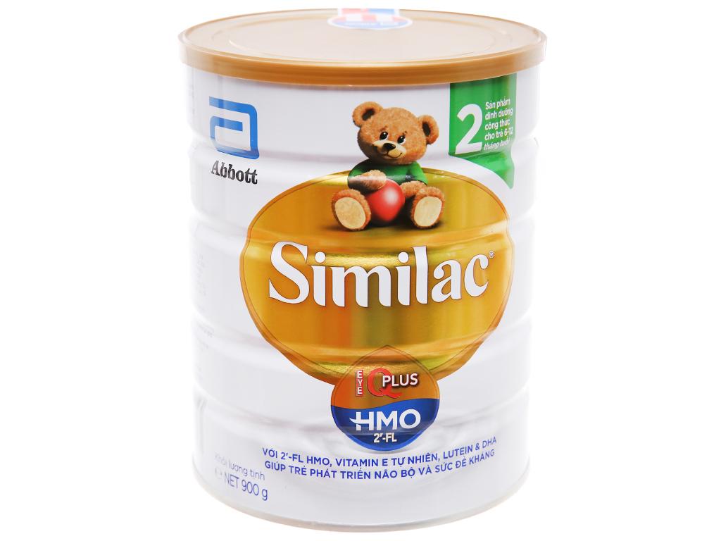 Sữa bột Abbott Similac Eye-Q 2 Plus (HMO) vani lon 900g (6 - 12 tháng) 1