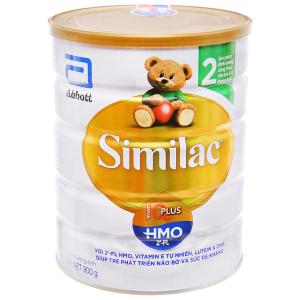 Sữa bột Abbott Similac Eye-Q 2 Plus (HMO) vani lon 900g (6 - 12 tháng)
