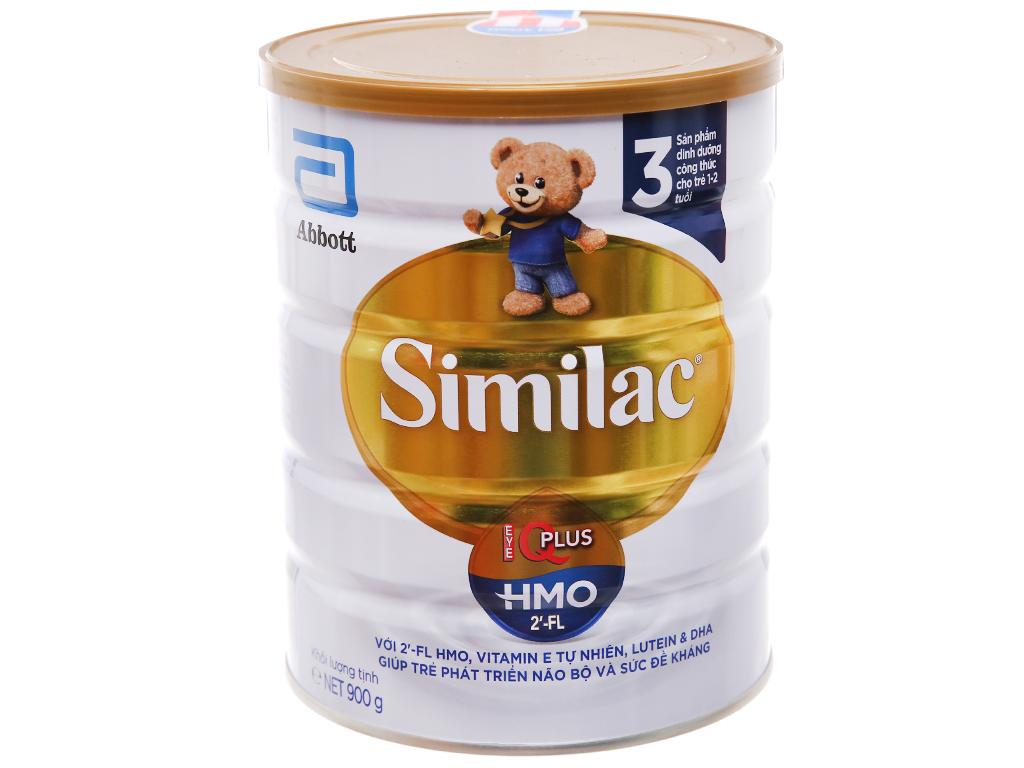 Sữa bột Abbott Similac Eye-Q 3 Plus (HMO) vani lon 900g (1 - 2 tuổi) 1