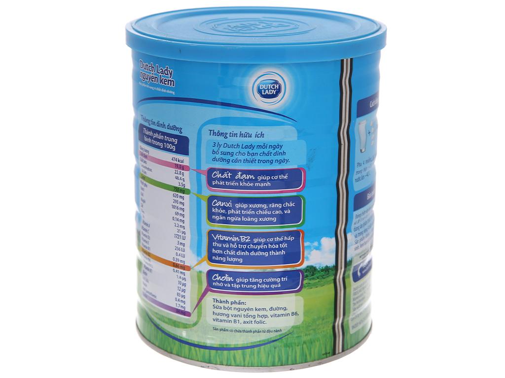 Sữa bột Dutch Lady nguyên kem lon 900g 2