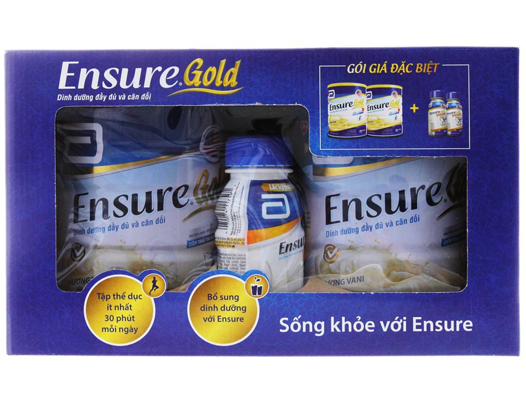 Hộp quà Ensure Gold vani 2 lon 850g và ensure gold virgo 2 chai 237ml 2