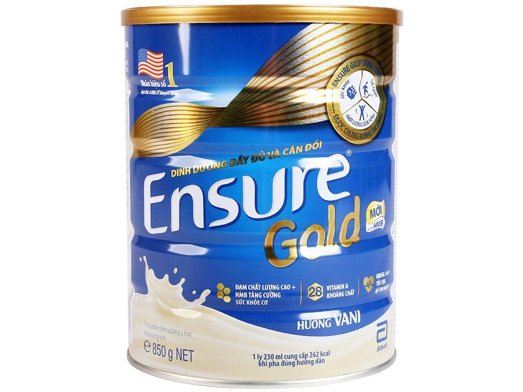 Hộp quà Ensure gồm 2 lon Ensure Gold vani 850g và 2 chai Ensure Gold Vigor 237ml 3