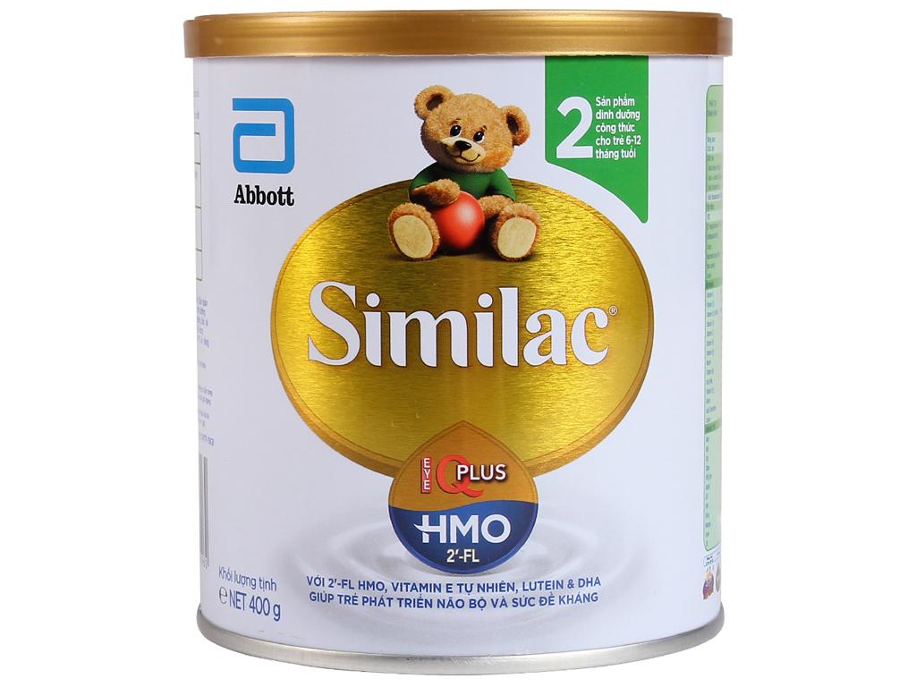 Sữa bột Abbott Similac Eye-Q 2 Plus (HMO) vani lon 400g 1