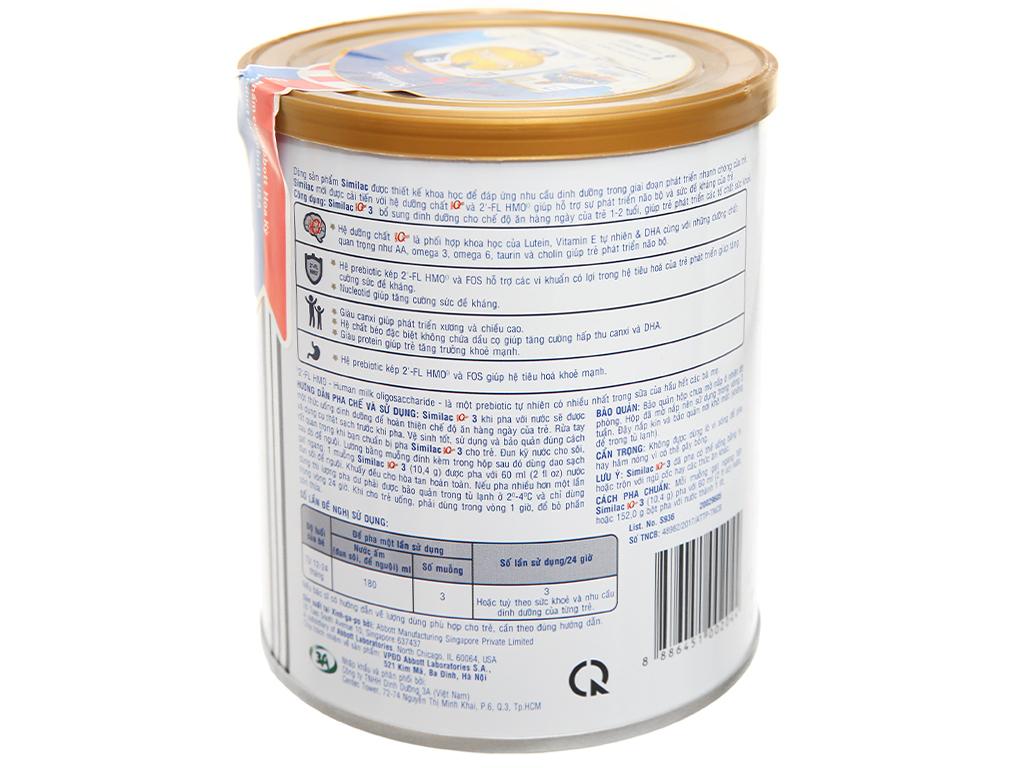 Sữa bột Abbott Similac Eye-Q 3 Plus (HMO) vani lon 400g (1 - 2 tuổi) 3