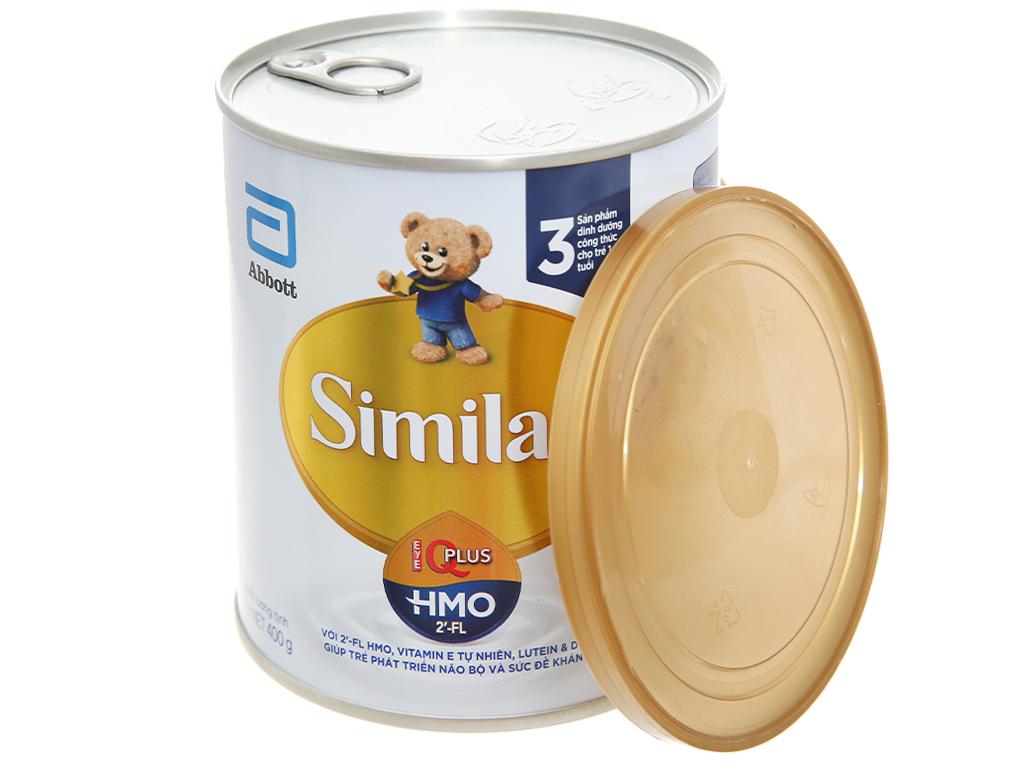 Sữa bột Abbott Similac Eye-Q 3 Plus (HMO) vani lon 400g (1 - 2 tuổi) 4