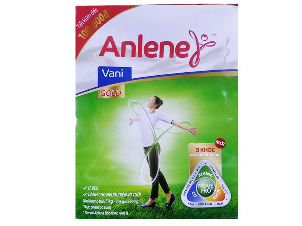 Sữa bột Anlene Gold MovePro vani ít béo hộp 1kg (trên 40 tuổi) 1