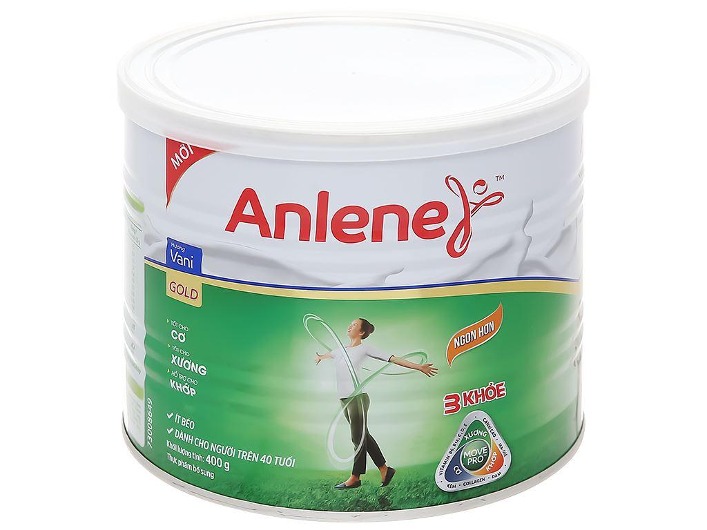 Sữa bột Anlene Gold Movepro vani ít béo hộp 400g (trên 51 tuổi) 1