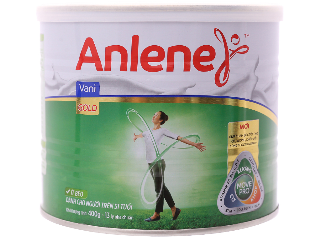 Sữa bột Anlene Gold Movepro vani ít béo hộp 400g (trên 51 tuổi) 5