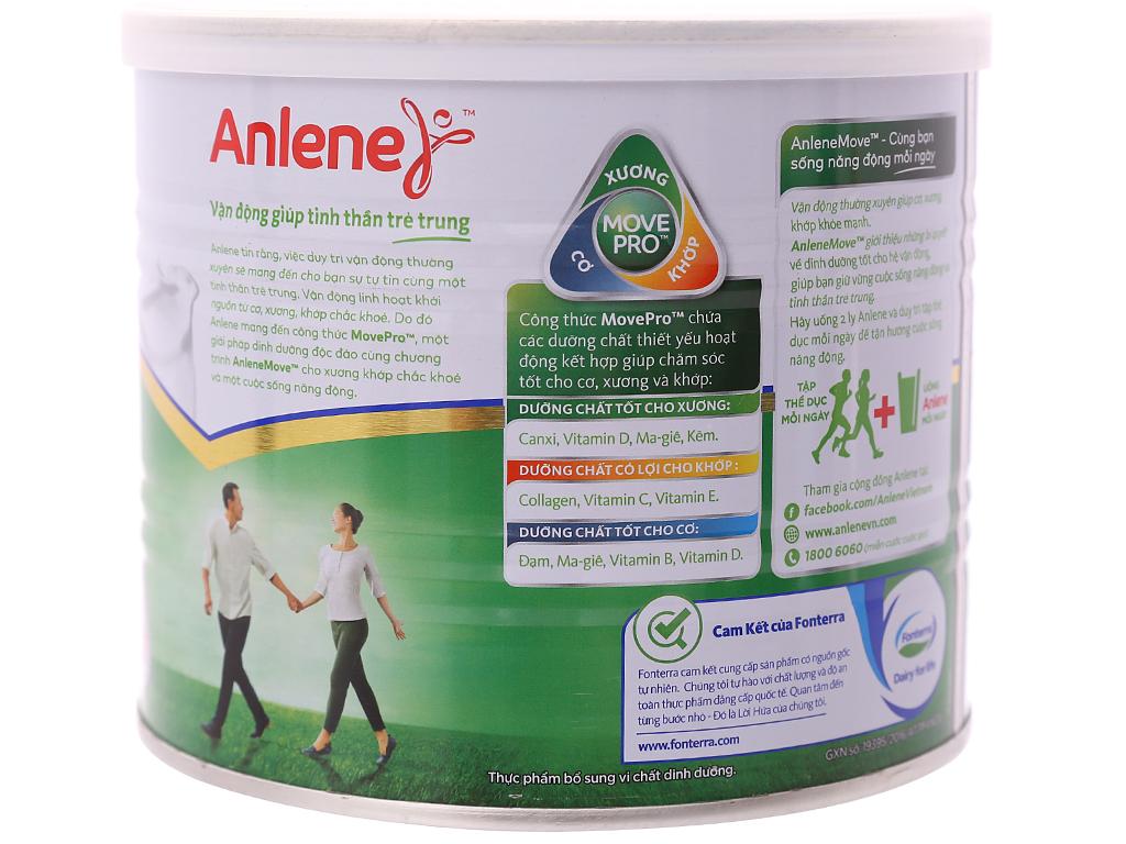 Sữa bột Anlene Gold Movepro vani ít béo hộp 400g (trên 51 tuổi) 6