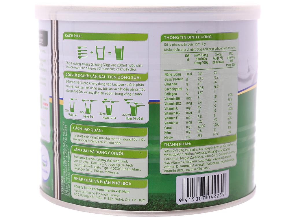 Sữa bột Anlene Gold Movepro vani ít béo hộp 400g (trên 51 tuổi) 7