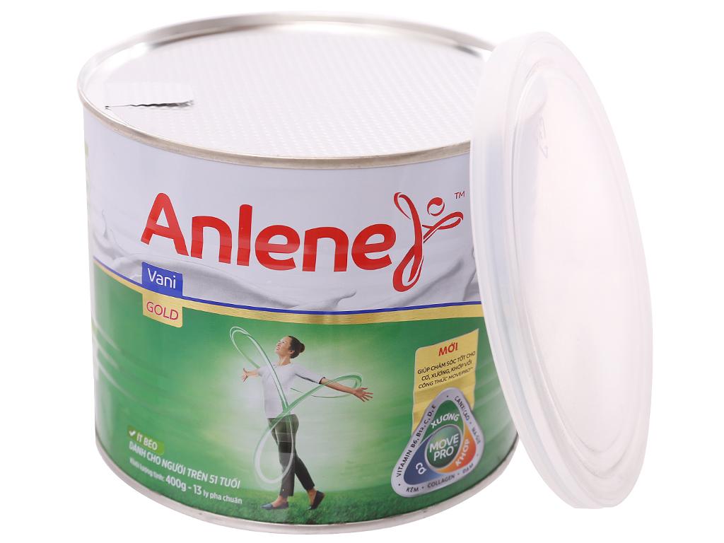 Sữa bột Anlene Gold Movepro vani ít béo hộp 400g (trên 51 tuổi) 8