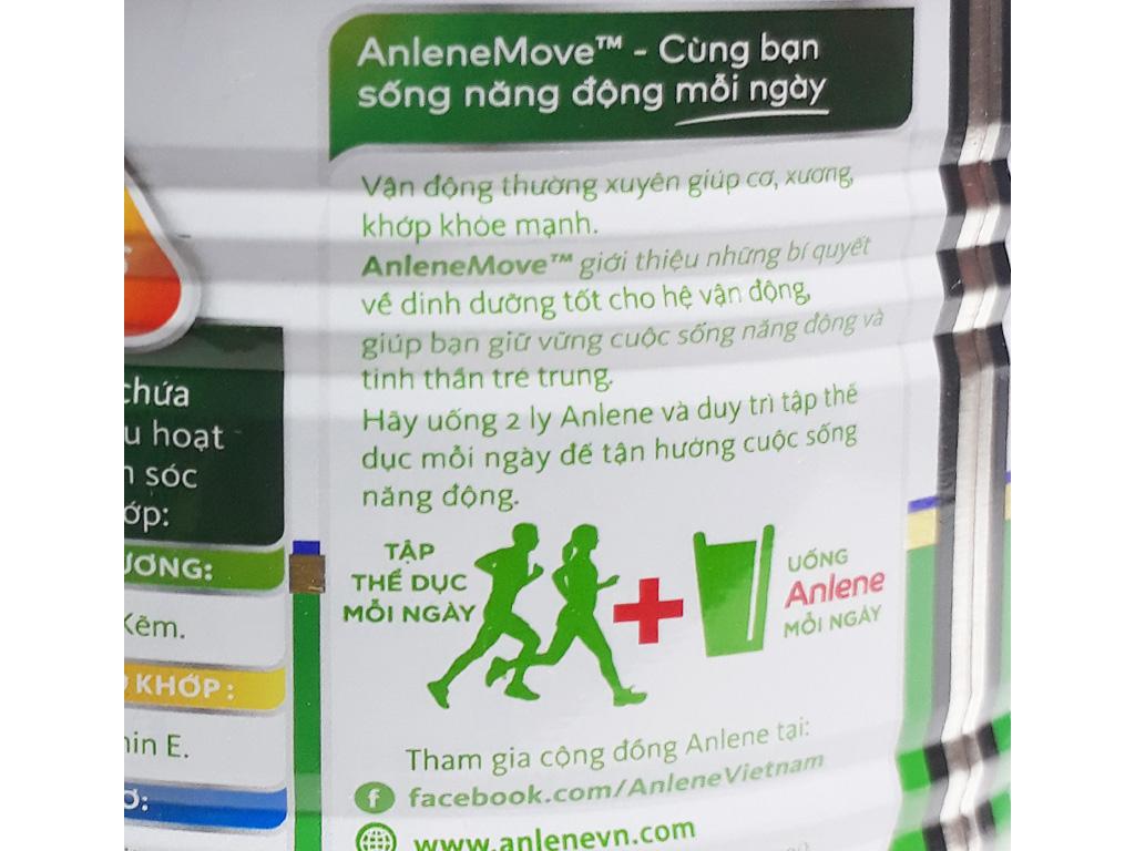 Sữa bột Anlene Gold Movepro vani ít béo hộp 400g (trên 51 tuổi) 3