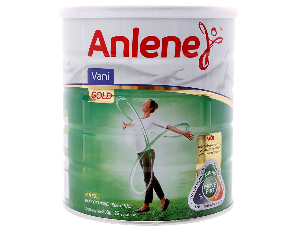 Sữa bột Anlene Gold Movepro vani ít béo hộp 800g (trên 40 tuổi) 1