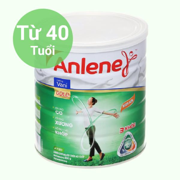 Sữa bột Anlene MovePro hương vani gold hộp 800g (trên 40 tuổi)
