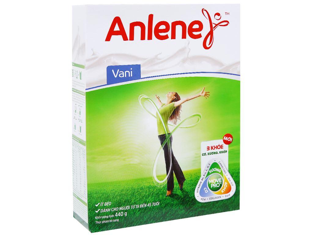 Sữa bột Anlene vani ít béo hộp 440g (19 - 45 tuổi) 1