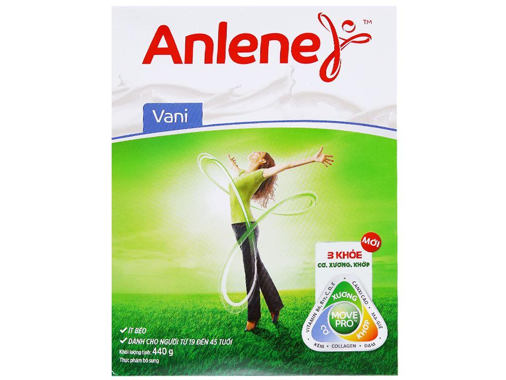 Sữa bột Anlene vani ít béo hộp 440g (19 - 45 tuổi) 2