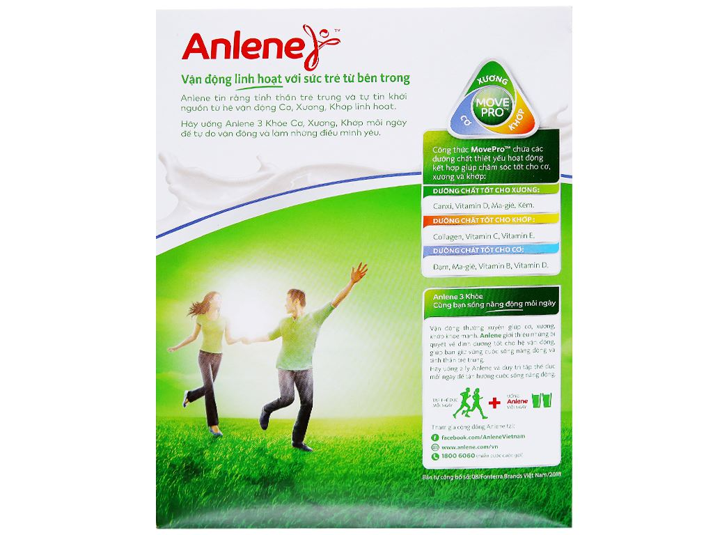 Sữa bột Anlene vani ít béo hộp 440g (19 - 45 tuổi) 3