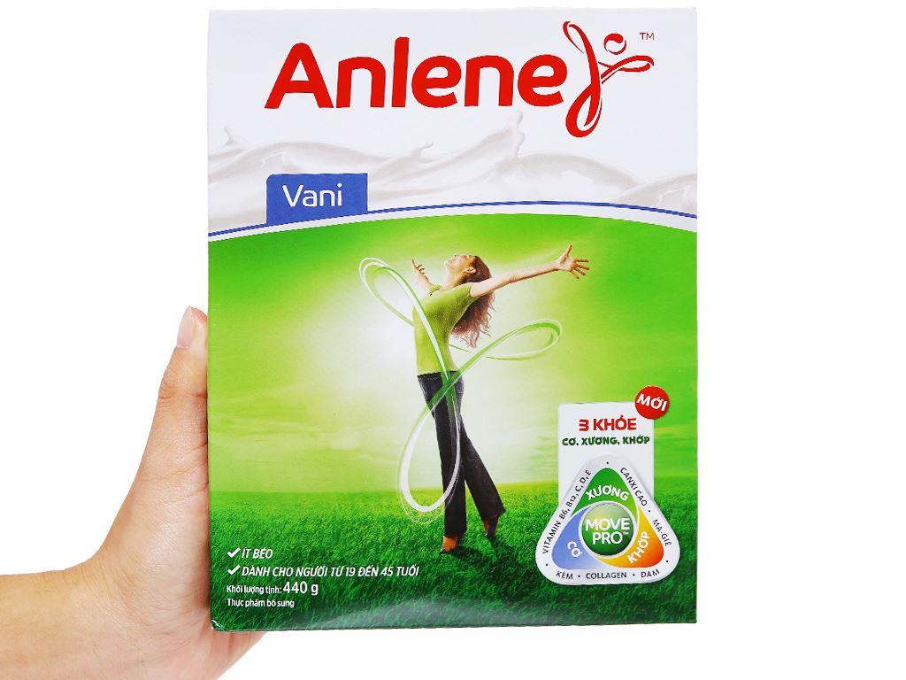 Sữa bột Anlene vani ít béo hộp 440g (19 - 45 tuổi) 7