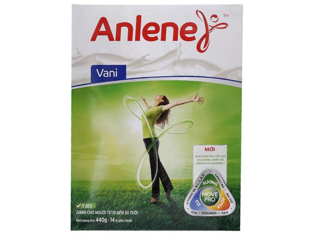 Sữa bột Anlene vani ít béo hộp 440g (19 - 50 tuổi) 1