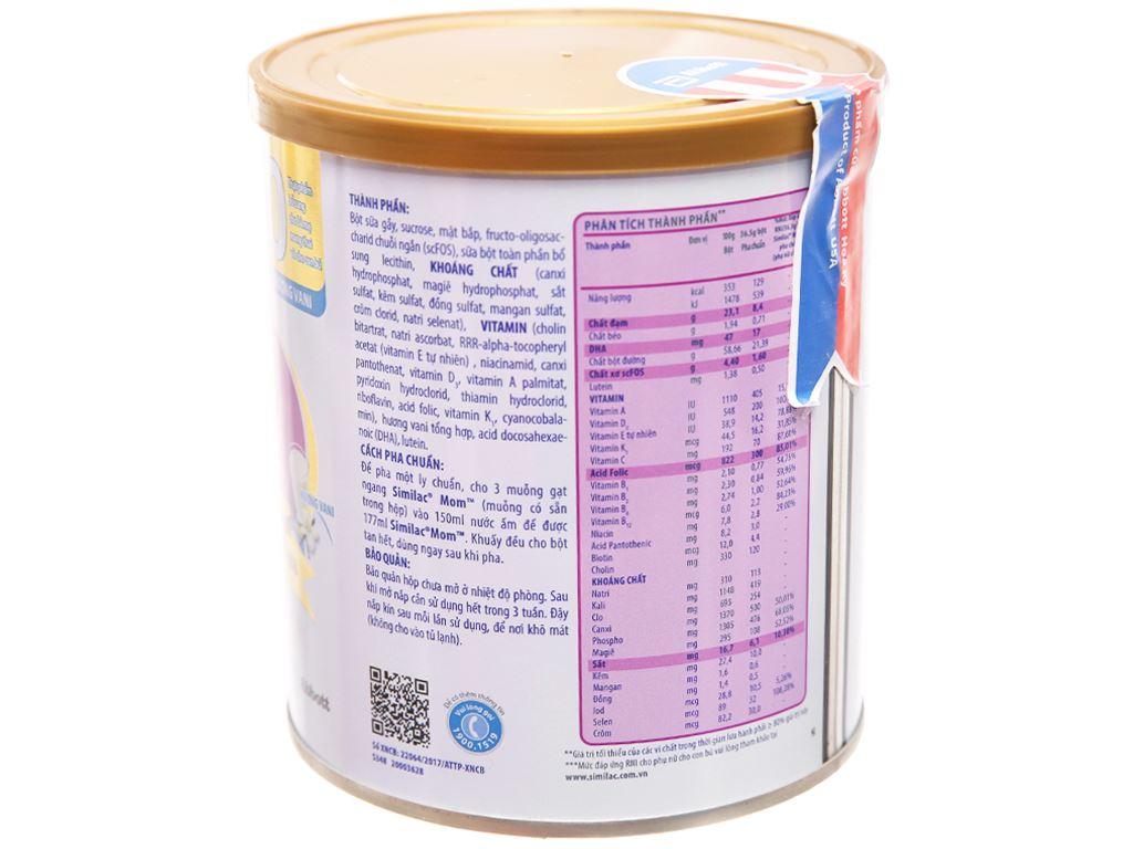 Sữa bột Abbott Similac Mom Eye-Q Plus ít béo lon 400g 2