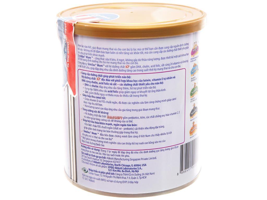 Sữa bột Abbott Similac Mom Eye-Q Plus ít béo lon 400g 3