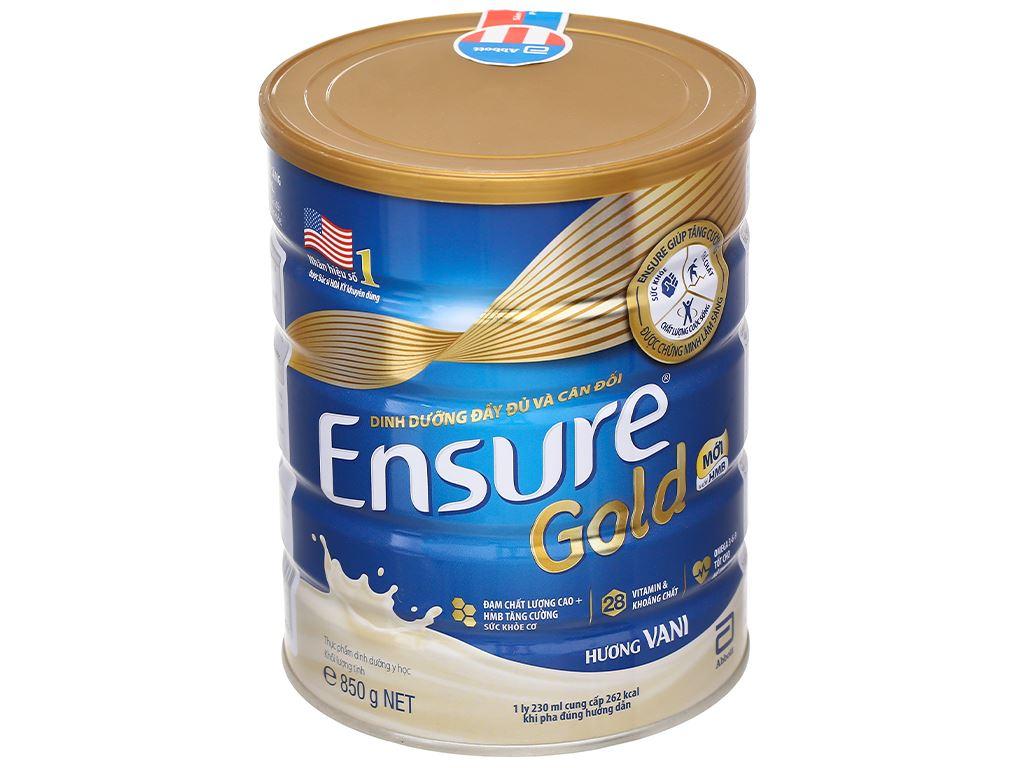 Sữa bột Ensure Gold vani lon 850g 1