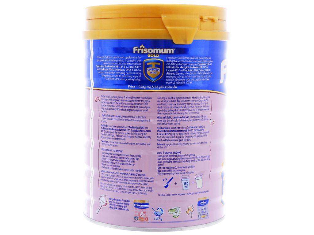 Sữa bột Frisomum Gold hương cam lon 900g 2