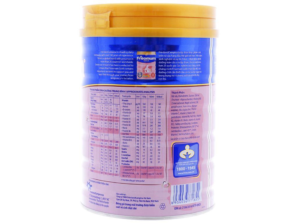Sữa bột Frisomum Gold hương cam lon 900g 3
